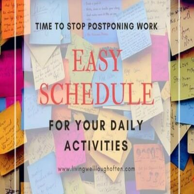 Schedule everyday activities