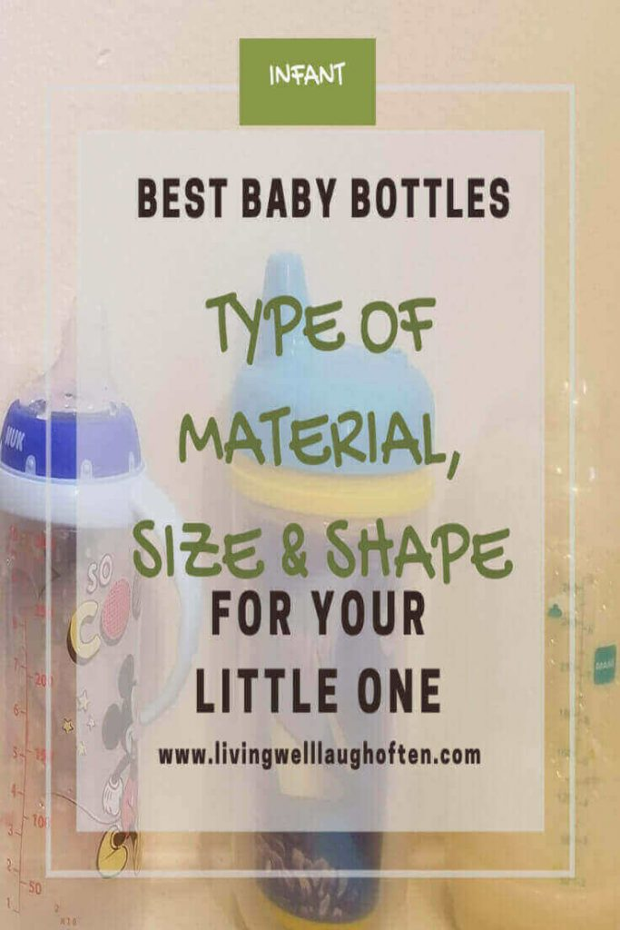 Three different baby bottles
