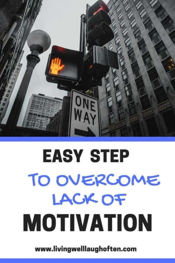 Mindset growth overcome lack of motivation traffic light